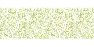 Vector abstract swirls texture horizontal border. Seamless pattern background graphic design Stock Photo