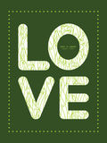 Vector abstract swirls texture love text frame Stock Photos