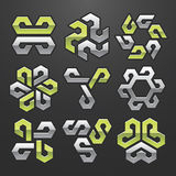 Vector Abstract Symbol Set Royalty Free Stock Photography