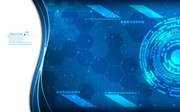 Vector abstract tech innovation concept blue background. Eps 10 vector stock illustration