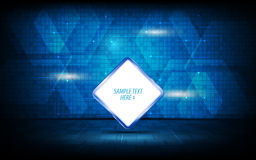 Vector abstract tech logo sign on digital innovation pattern concept background. Eps 10 vector vector illustration