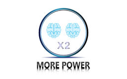 Vector abstract tech power double brain design innovation concept Royalty Free Stock Images