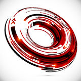 Vector abstract techno 3D circle background Royalty Free Stock Photography