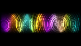 Vector abstract technological colorful sound wave background Stock Photo