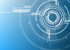 Vector abstract technological interface style background Stock Images