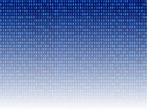 Vector: Abstract Technology Background, Blue Binary Code Digital Backdrop. stock illustration