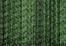 Vector Abstract Technology Binary Code Stream Green Background, Programming, Coding. royalty free illustration