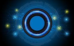 Vector abstract technology button background. 10 vector Royalty Free Stock Photography