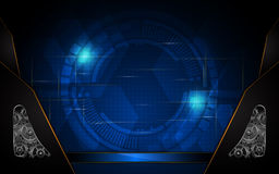 Vector abstract technology concept system working background Royalty Free Stock Photos