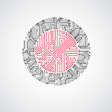 Vector abstract technology illustration   Stock Image