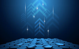 Vector abstract technology innovation move up background. Eps 10 vector Stock Images