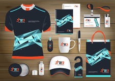 Vector abstract technology sport design with Gift Items, Color promotional souvenirs design for link corporate identity. Vector abstract technology sport design Royalty Free Stock Photos
