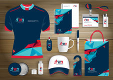 Vector abstract technology sport design with Gift Items, Color promotional souvenirs design for link corporate identity. Vector abstract technology sport design Stock Photos