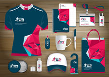 Vector abstract technology sport design with Gift Items, Color promotional souvenirs design for link corporate identity. Vector abstract technology sport design stock illustration