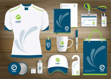 Vector abstract technology sport design with Gift Items, Color promotional souvenirs design for link corporate identity. Vector abstract technology sport design royalty free illustration