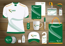 Vector abstract technology sport design with Gift Items, Color promotional souvenirs design for link corporate identity. Vector abstract technology sport design Stock Image