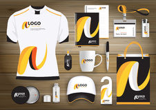 Vector abstract technology sport design with Gift Items, Color promotional souvenirs design for link corporate identity. Vector abstract technology sport design Stock Images