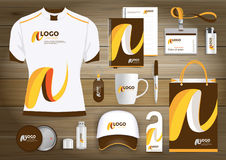 Vector abstract technology sport design with Gift Items, Color promotional souvenirs design for link corporate identity. Vector abstract technology sport design Royalty Free Stock Photo