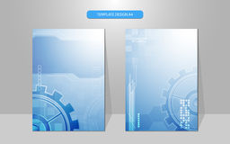 Vector abstract technology system working cover design background. Eps 10 vector Royalty Free Stock Photography