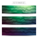 Vector Abstract Technology Web Banners Stock Image