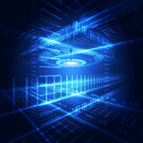 Vector abstract telecom technology system, background Royalty Free Stock Photo