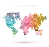 Vector Abstract Telecommunication Earth Map Stock Photography