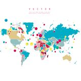 Vector Abstract Telecommunication Earth Map Royalty Free Stock Images