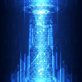 Vector abstract telecoms future technology, illustration background Stock Photo