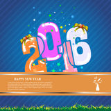 Vector abstract 2016 template banner design celebration happy new year concept Royalty Free Stock Photo