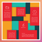 Vector abstract template. Colorfully rectangle panels with place Royalty Free Stock Images