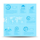 Vector abstract  template infographic and icon science innovation concept Stock Photography
