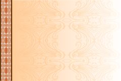Vector abstract template with pattern. It can be used as photo album cover and other. Vintage background. Vector abstract template with pattern. It can be used Stock Image