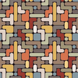 Vector abstract tetris background - vintage seamle Royalty Free Stock Images