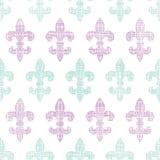 Vector abstract textile fleur de lis stripes Stock Photography