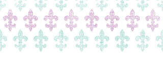 Vector abstract textile fleur de lis stripes Royalty Free Stock Image