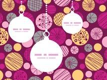 Vector abstract textured bubbles Christmas Stock Photo
