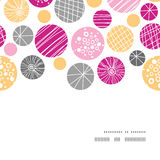 Vector abstract textured bubbles horizontal frame Stock Images