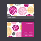 Vector abstract textured bubbles horizontal stripe Stock Image