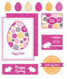 Vector abstract textured bubbles set of Easter Stock Photos
