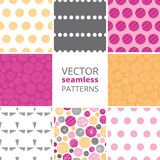 Vector abstract textured bubbles set of eight Stock Photography