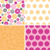 Vector abstract textured bubbles set of four Royalty Free Stock Photography