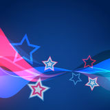 Vector abstract 4th of july. Vector american wave style design background stock illustration