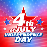 Vector abstract 4th of july background Stock Photography