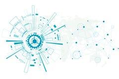 Vector abstract toekomstig technologieontwerp op witte achtergrond Stock Foto's