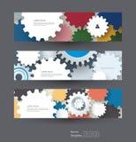 Vector abstract toestelwiel, geplaatste banners Royalty-vrije Stock Fotografie