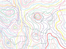 Vector abstract topographical map Stock Images