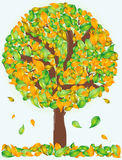 Vector abstract tree Royalty Free Stock Images