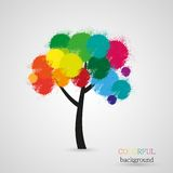Vector abstract tree background Royalty Free Stock Photo