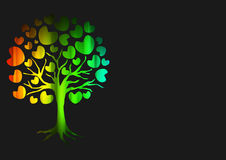 Vector of abstract tree icon Royalty Free Stock Photography