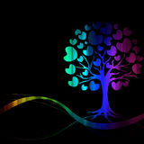 Vector of abstract tree icon Royalty Free Stock Photos